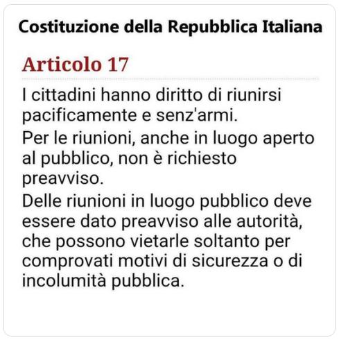 Art. 17 della Costituzione Italiana